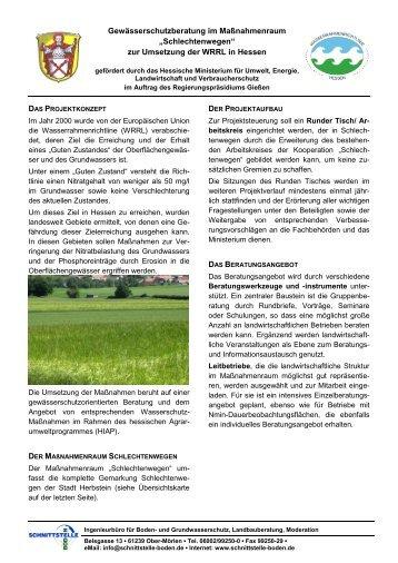 Projektinformation (pdf 490 KB) - Ingenieurbüro Schnittstelle Boden