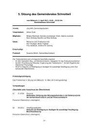 Protokoll vom 03. April 2013 - Gemeinde Schnottwil