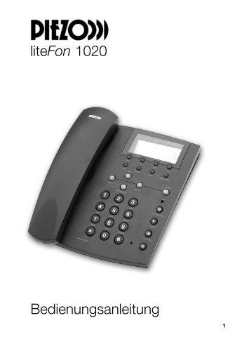 liteFon 1020 Bedienungsanleitung - Schnurlostelefon.de