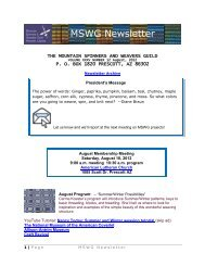 MSWG Newsletter - Mountain Spinners & Weaver Guild