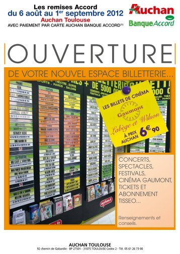 DE VOTRE NOUVEL ESPACE BILLETTERIE...   Auchan