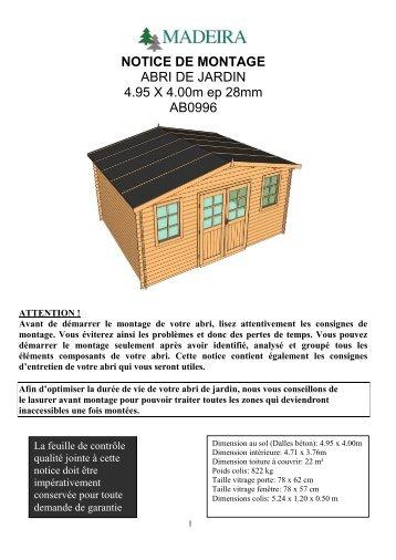 notice de montage auchan with carport bois auchan with. Black Bedroom Furniture Sets. Home Design Ideas