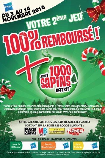 **Offre «1000 sapins» réservée aux participants à l'offre ... - Auchan