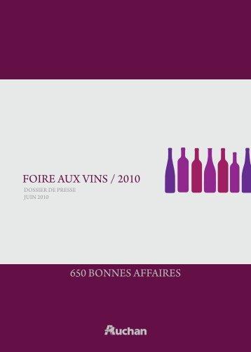 FOIRE AUX VINS / 2010 - Auchan