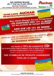 du 7 mai au 2 juin 2012 Auchan Toulouse