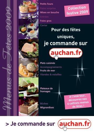 M enus de F êtes 2009 - Auchan