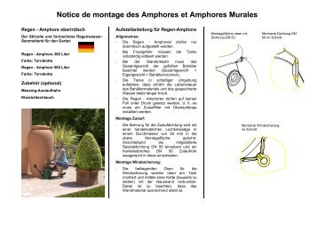 Notice de montage des Amphores et Amphores Murales - Auchan