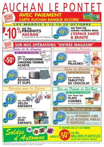 Soldes d'Automne - Auchan