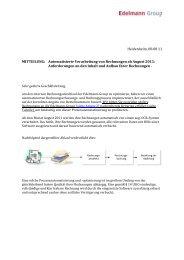 Rechnungen automatische OCR-Erkennung - Edelmann
