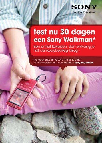 test nu 30 dagen een Sony Walkman - Eldi