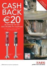 AEG betaalt u €20 terug op uw Ultramix Pro staafmixer - Exellent