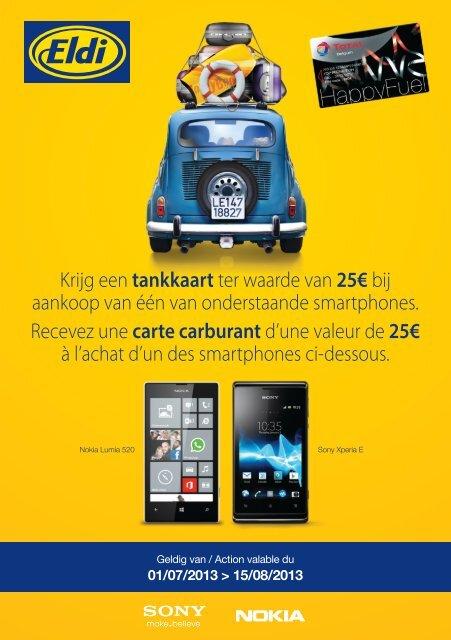 Krijg een tankkaart ter waarde van 25€ bij aankoop van één ... - Eldi