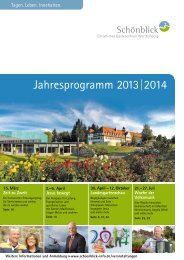 Jahresprogramm 2013| 2014 - Schönblick