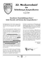 lesen - Schönberger Jungmusikanten