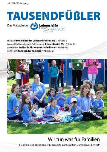2014 Juli / Lebenshilfe Freising / Tausendfüßler-Magazin