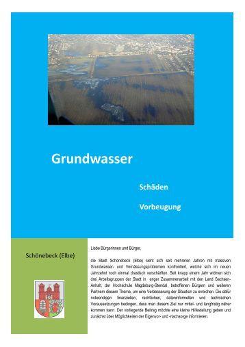 Grundwasser - Vorsorgetipps - Stadt Schönebeck