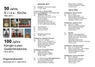 Programmübersicht - Evangelischer Kirchenkreis Berlin-Schöneberg