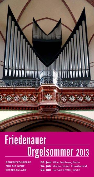 Orgelsommer 2013 Friedenauer