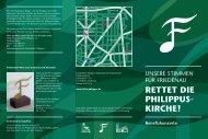 Faltblatt Konzertreihe - Evangelischer Kirchenkreis Berlin-Schöneberg