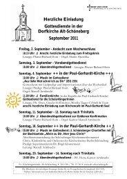 September/Oktober 2011 - Evangelischer Kirchenkreis Berlin ...