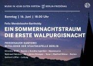 EIN SOMMERNACHTSTRAUM DIE ERSTE WALPURGISNACHT