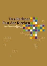Das Berliner Fest der Kirchen - Evangelischer Kirchenkreis Berlin ...