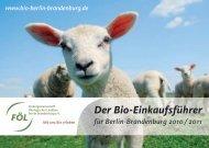 Bio Einkaufsführer Berlin-Brandenburg 2010/2011