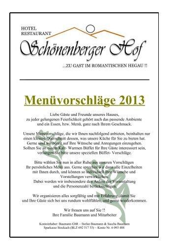 menüvorschläge 298 kb - Schönenberger Hof