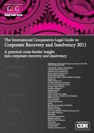 Corporate Recovery and Insolvency 2011 - Schoenherr