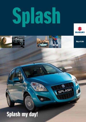 Suzuki Splash modelbrochure