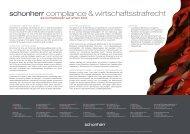 compliance & wirtschaftsstrafrecht - Schoenherr