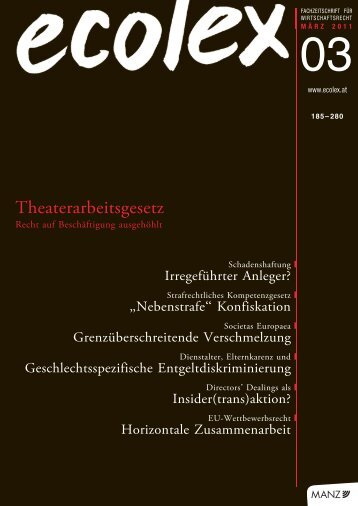 Theaterarbeitsgesetz - Schoenherr