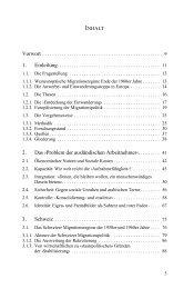 2. Das ›Problem der ausländischen Arbeitnehmer‹......... 41