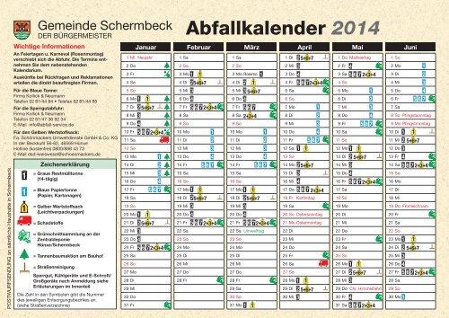 Abfallkalender 2014 - Schönmackers Umweltdienste GmbH & Co KG