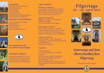 Einladung Pilgertage 22.-26. April 2013 - Schönstatt-Zentrum ...