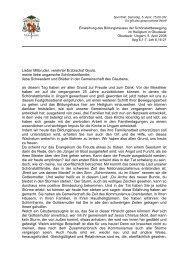 Erzbischof Dr. Robert Zollitsch: Ansprache bei der Einweihung des ...