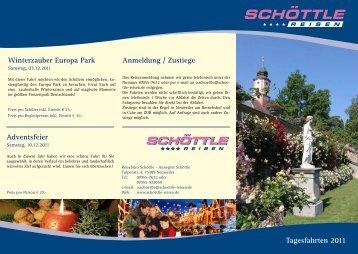 Tagesfahrten 2011 Winterzauber Europa Park Adventsfeier ...