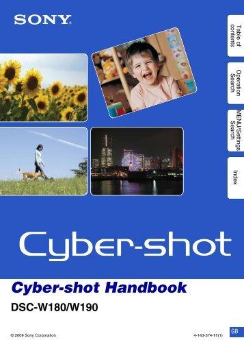 Cyber-shot Handbook DSC-W180/W190