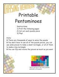 photograph relating to Pentominoes Printable identified as Printable Pentominoes - Scholastic