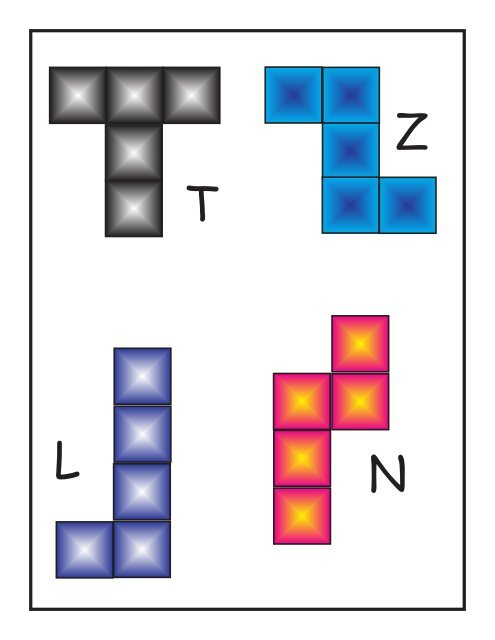 picture about Pentominoes Printable called U W Y I