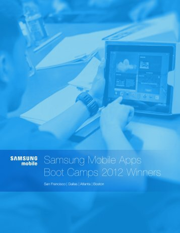 Samsung Mobile Apps Boot Camps 2012 Winners - Scholastic