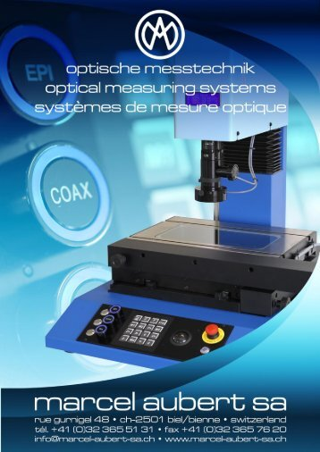 Microscopes - marcel aubert sa