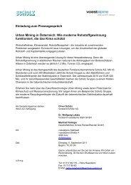 Einladung zum Pressegespräch Urban Mining in Österreich ... - Scholz
