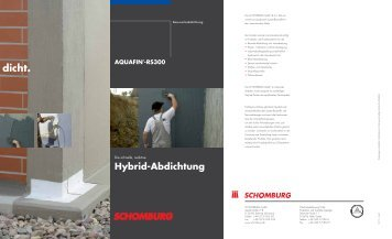 Die schnelle, reaktive Hybrid-Abdichtung - Schomburg