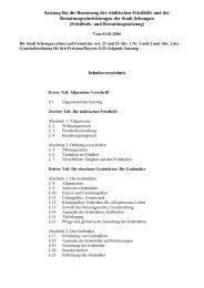 Satzung für die Benützung der städtischen Friedhöfe ... - Schongau