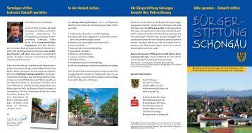 Informationen. - Schongau