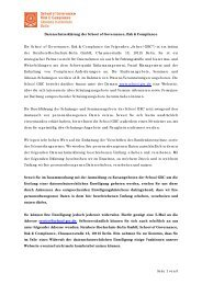 Link - School of Governance, Risk & Compliance
