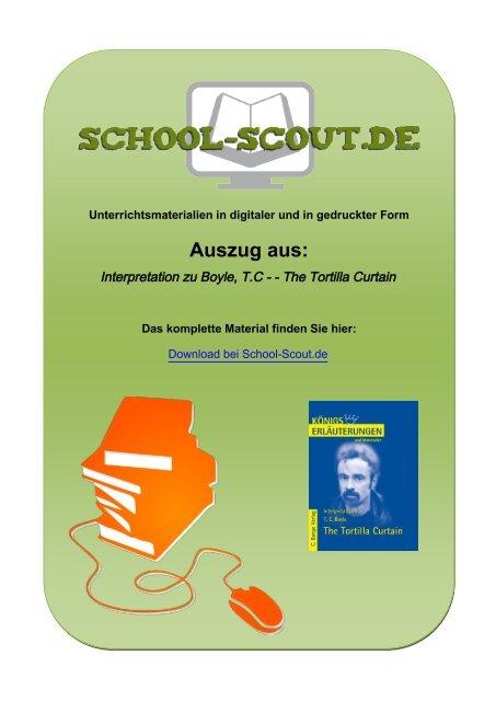 Interpretation zu Boyle, T.C - - The Tortilla Curtain - School-Scout