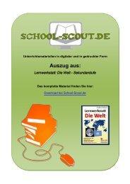Lernwerkstatt: Die Welt - Sekundarstufe - School-Scout