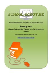 Klausur-Finder: Schiller, Friedrich von - Die Jungfrau ... - School-Scout